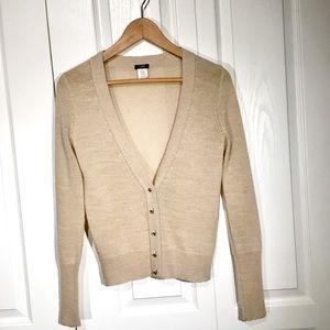 JCrew cream sweater with gold flecks - Size S